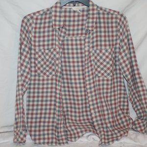 Forever 21 Long sleeve flannel checked shirt SZ M